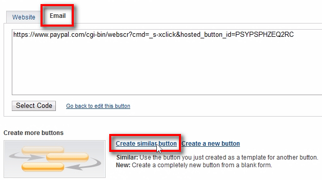 Create similar button Click on the Create similar button link to create another button with similar settings. But before you do so, save this URL from the Email tab to your computer for future use. PayPal will create URL for your new button too. It is a direct payment URL. When the customer visits this URL, he will see the payment page on PayPal. You can use this URL in emails, Viber, Telegram, Facebook Messenger, Website, or wherever URLs can be used. However, my advice would be to add this URL or button HTML code on your web-site's Pricing page where you can also have F.A.Q. section, all pricing and plans, list of features, etc. It's always better to direct people to the Pricing page so they can choose from all the available plans than just giving them direct payment URL.