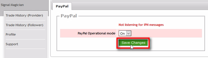 Turn on PayPal Webhook listener Set the Paypal Operational mode to On and click Save Changes. It will turn on PayPal Webhook listener.