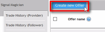 Create a second Offer Click on Create new Offer button to create a second Offer. This time for the buttons without a trial period.