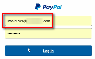 We login as a buyer using the second PayPal Sandbox Account which is of type Personal. It should have the same password as your PayPal Developer account. If not, you can set its password in the PayPal Developer account under the Sandbox-Accounts section.