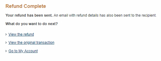 When you get to the Refund Complete page wait about 10-20 seconds for the PayPal IPN to trigger and call the Offer, then go back to Signal Magician. PayPal IPN operates in the background, and we don't see it. So keep in mind that nothing will happen on the screen.