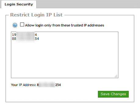 A list of IP addresses from where this admin account is allowed to log into the Signal Magician panel.