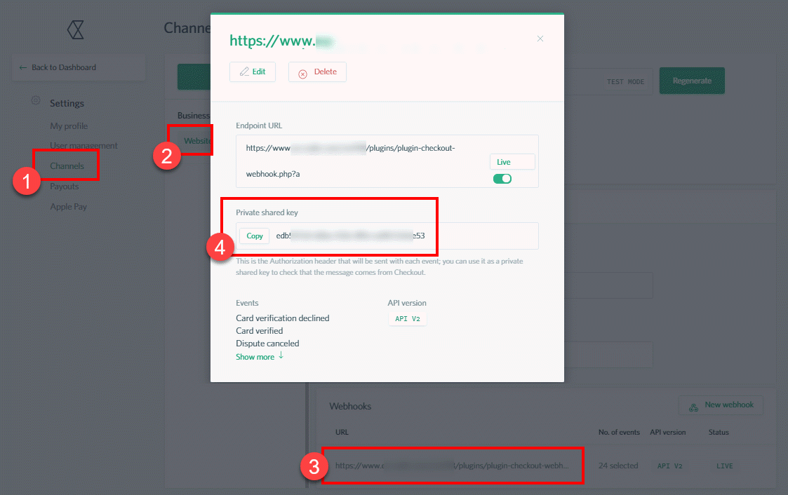 Copy Webhook Private Shared Key to Signal Magician