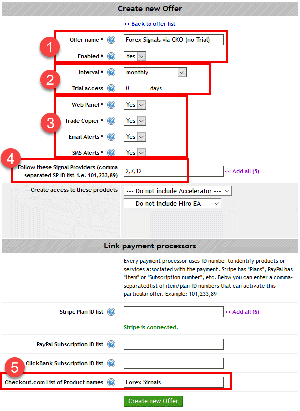 Creating an Offer on Signal Magician