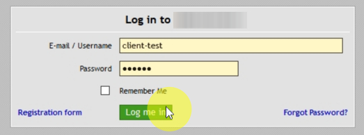 Now when the Sign-In Code is enabled, let's try to login as a customer to see how it works.