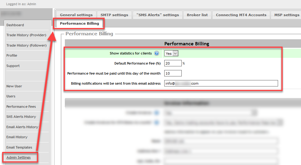 Enabling Performance Billing plugin
