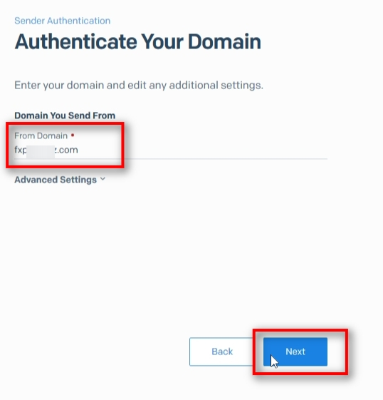 Enter your domain. Note that a domain name is that part without www or any other sub-name.